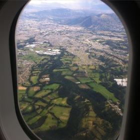 Arrivée à Quito, Equateur
